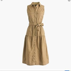 J. Crew Military Tiered Shirtdress